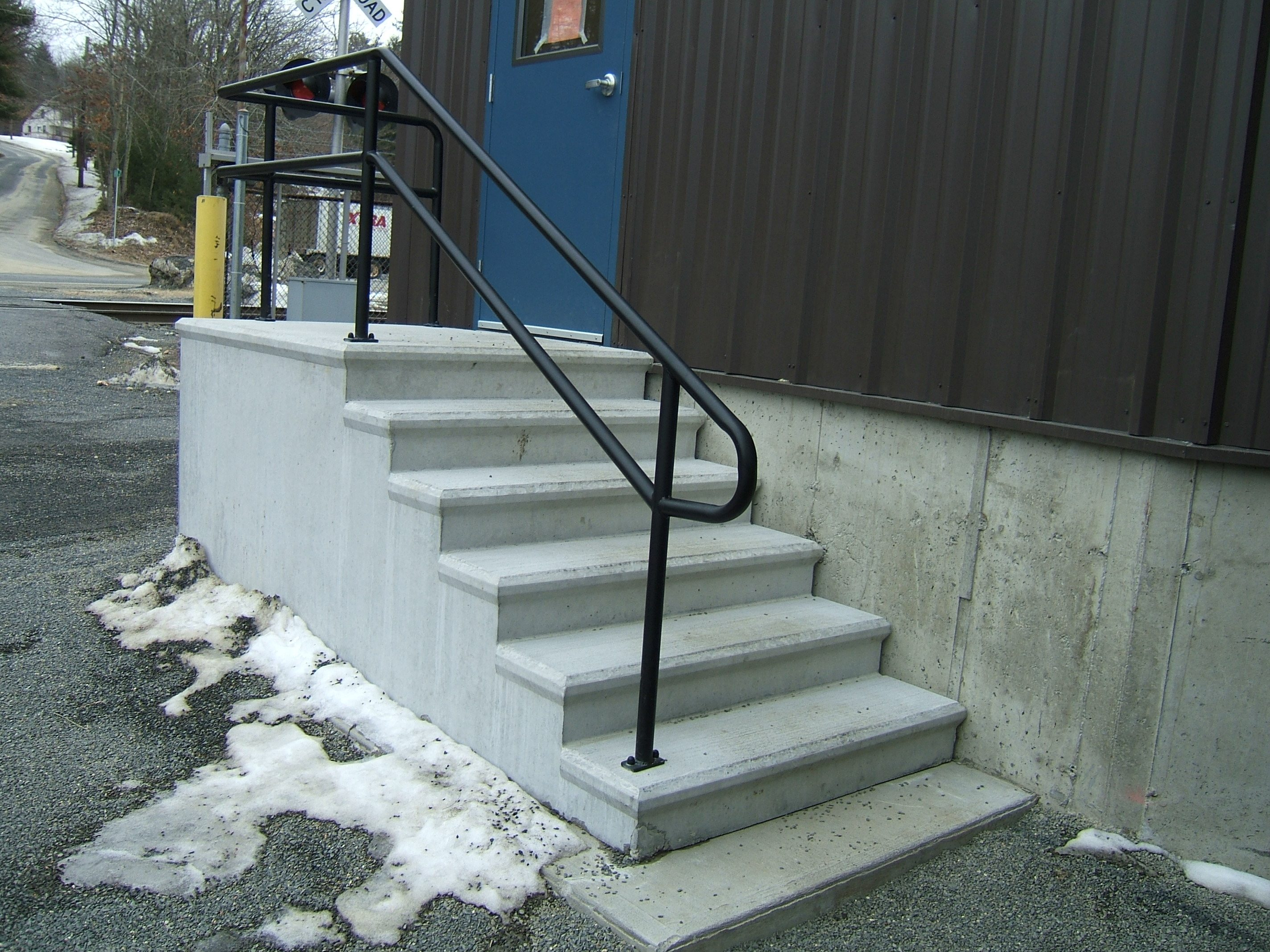 Exterior Stair Railings Custom Metal Fences Custom Rail Tech